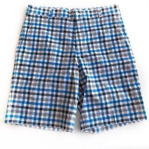 Nike Golf Shorts Mens Size 32 Check blue